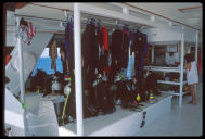 Dive deck aboard Cayman Aggressor IV, Grand Cayman