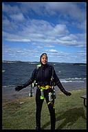 Cynthia Abraham, my dive instructor. Lake Travis, Austin, Texas
