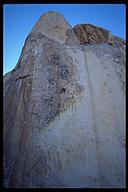 David Benson one of the best climbs in Joshua Tree, Figures on a Landscape (5.10b). Joshua Tree NP, California