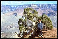 My mom inside the Grand Canyon. Grand Canyon NP, Arizona