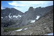 Our destination, Pingora. Wind River Range, Wyoming