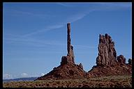 Totem Pole, climbed by Clint Eastwood in the movie, 'The Eiger Sanction'. Monument Valley, Arizona