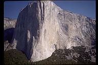 El Capitan. Our route, Zodiac is on the right hand side. Yosemite, California