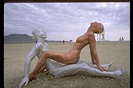 Burning Man 1998 - Even the mannequins get a little crazy here