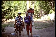 David Benson and Jamie Leef after camping out on Zodiac. Yosemite, California