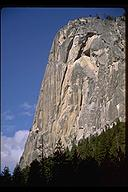 Washington Column. Our route, Southern Man is to the left hand side. Yosemite, California